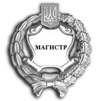 """Нагрудный знак """"МАГИСТР"""", круглый, парадный, серебряный"""