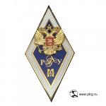 """Именной нагрудный знак """"МАГИСТР РГГУ"""" позолоченное серебро"""