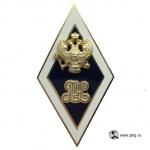 Нагрудный знак выпускника РЭУ из позолоченной латуни